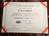 Dr. ANSELMI won the YOUNG SCIENTIST Award @ ACES-2018