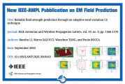 New IEEE-AWPL Pubblication on EM Field Prediction